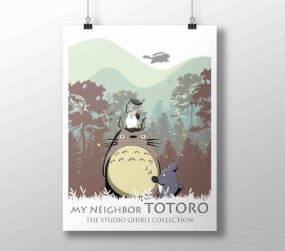Poster A3 Mon voisin Totoro
