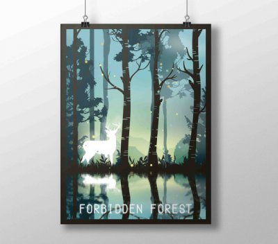 Poster A3 Harry Potter La Forêt interdite