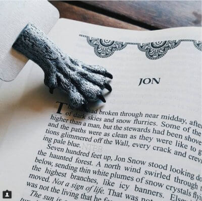 Marque-pages loup Game of Thrones