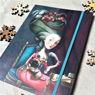 Le carnet de notes Marie-Antoinette par Benjamin Lacombe